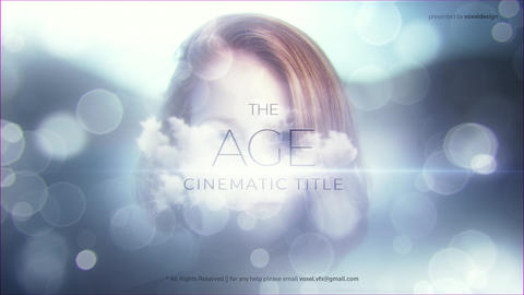 The Age Cinematic Title After Effectsテンプレート