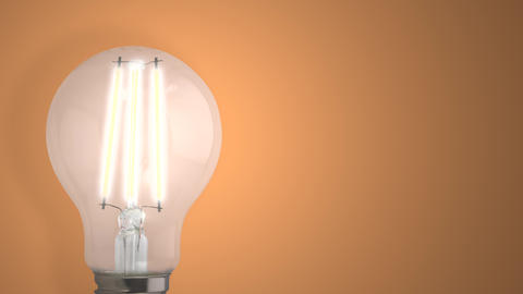 Light Bulb Switching On Animation