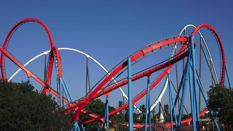 Amusement Park Roller Coasters Live Action