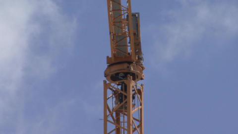 Construction crane installation Live Action