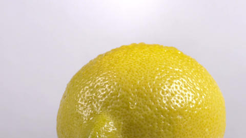 Close-up of a delicious lemon rotating Footage