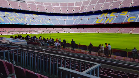 Barcelona, Spain - 25 September 2016: Barcelona FC Camp Nou football stadium Footage