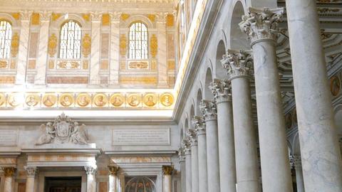 Basilica di San Paolo fuori le Mura. Rome, Italy Footage