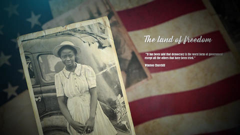 Vintage Patriotic Memories Photos & Quotes Premiere Pro Premiere Pro Template