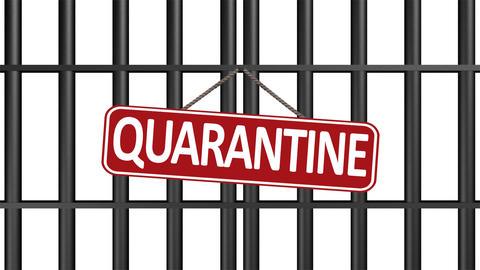 Iron door quarantine black Animation