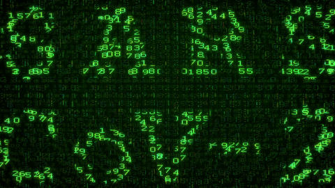 SARS-CoV-2 Test - Digital Data Code Matrix Animation