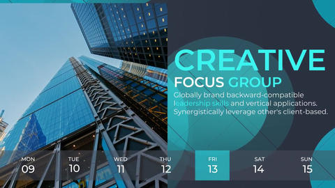 Weekly Timeline Corporate After Effects Template