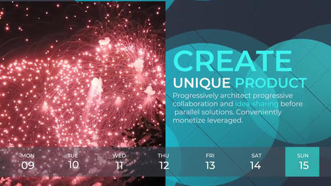 Weekly Timeline Corporate Slideshow After Effects Template