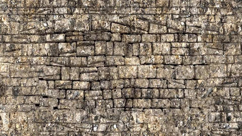 3D animation, stone wall, wall breaking exploding (5) Animation