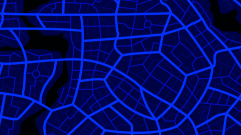 Clean top view of the night time city map 001 Vector
