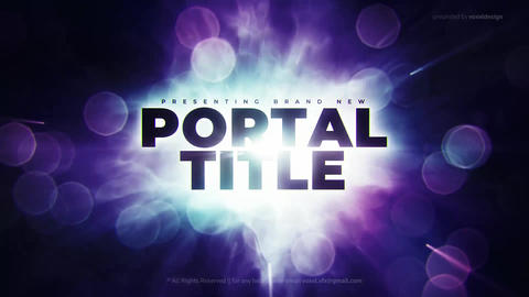 Portal Cinematic Title After Effects Template