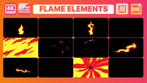 Flame And Titles Motion Graphics Template