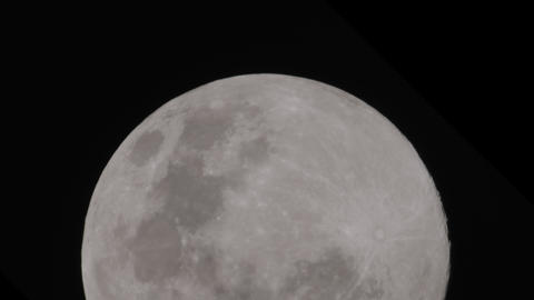 Full moon night move bottom to top Live Action