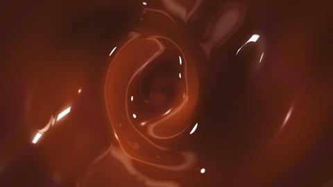 Liquid chocolate vortex background GIF