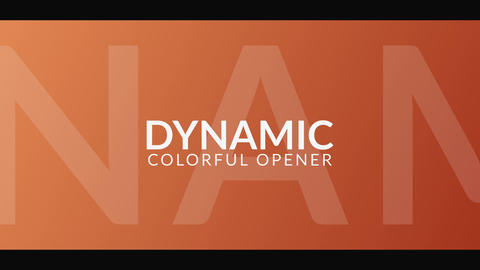 Dynamic Colorful Opener Motion Graphics Template