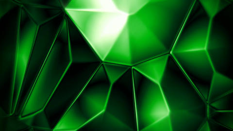 Rotating emerald crystals abstract background seamless loop Animation