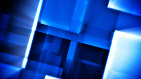 Beaming blue squares abstract futuristic background seamless loop Animation