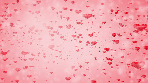 3d Heart Background_particle Animation