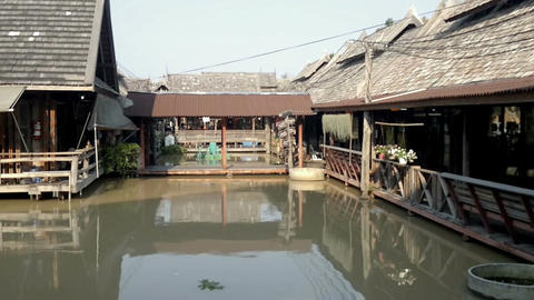 View of Pattaya Floating market, Thailand Footage
