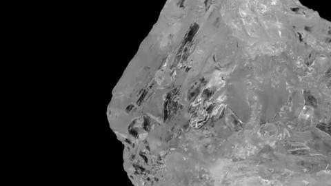 Rock salt rolling diagonally Transparent Live Action