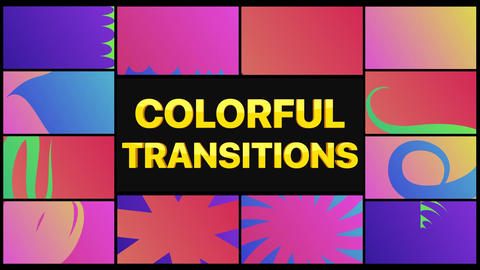 Colorful Transitions Apple Motion Template