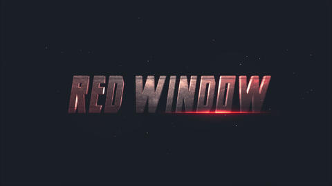 Red Window Title Reveal After Effects Template