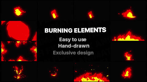 Burning Elements Apple Motion Template