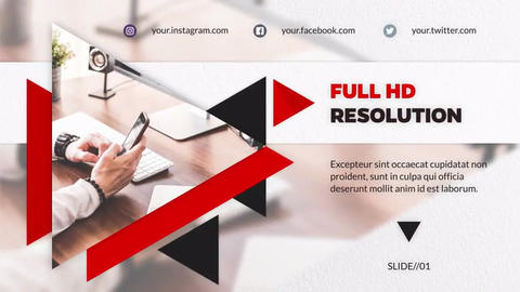 Corporate Modern - Slideshow After Effects Template