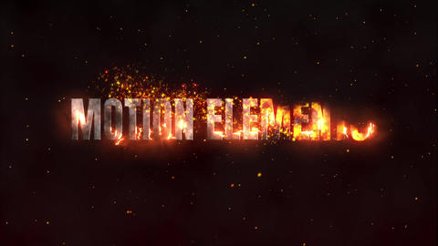 Burning title After Effects Template
