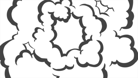 Smoke Elements #03 2D Cartoon FX HD (animation) Animation