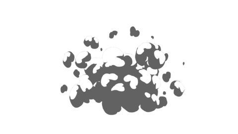 Smoke Elements #11 2D Cartoon FX HD (animation) Animation