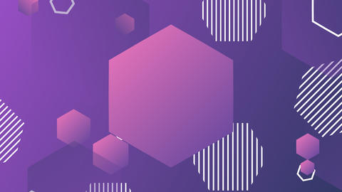 Animated purple background with hexagons GIF