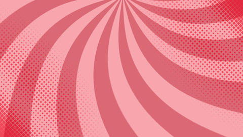 Pop art background with polka dots and shapes Animation