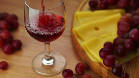 Pouring Red Wine Into Glass Footage