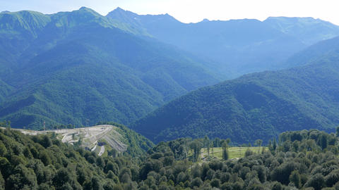 The mountains around the Olympic Village. Russia, Sochi Footage
