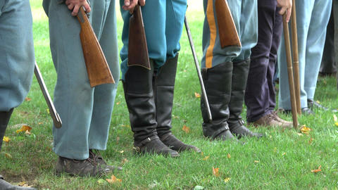 Civil War soldiers in formation Footage