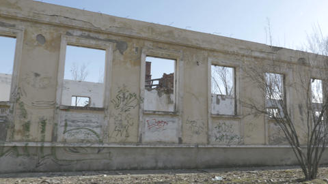 Side view of an abandoned building Footage