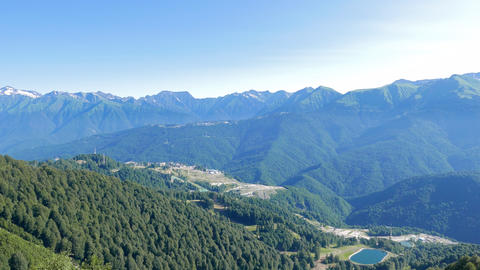 Rosa Khutor Olympic Village. View from above. Russia, Sochi Footage