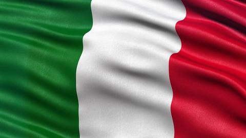 Italy flag seamless loop Animation