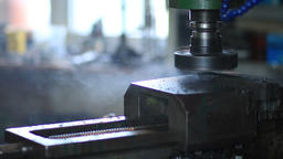 Industrial metal machining cutting process Footage