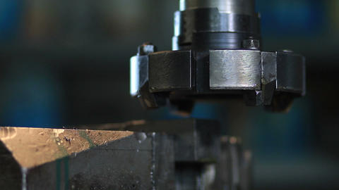 Milling machine tool with mill in chuck Footage