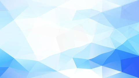 blue polygon shapes with triangles of different luminescence and color creating 3d effect resembling Animation