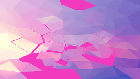 3d abstract template collage with geometric triangles and paper clouds cut by nails glued on top Animation