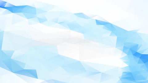 web site scene layout with long blue abstraction 3d ripple crafted with geometrical forms between Animation