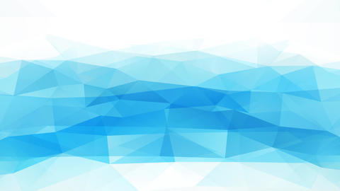 abstract scene design with waves of 3d geometric forms forming blue polygon graphical similar to a Animation