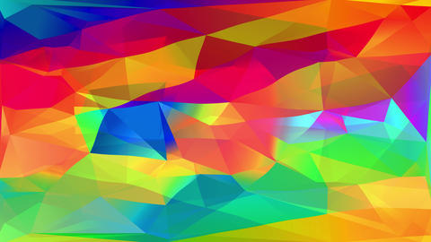 colorful digital mosaic of triangle and polygon geometric abstract forms creating a 3d flame effect Animation