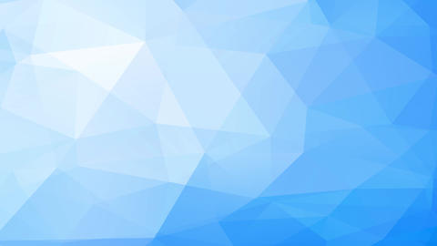 abstract polygon digital art built with 3d polygon forms creating a light blue vapour effect Animation