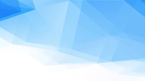 abstraction intricate geometric figure composed of blue and white shape template forming 3d polygons Animation