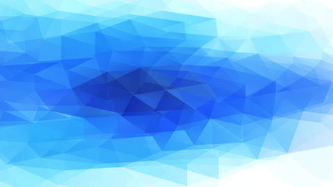 conceptual triangles with 3d reliefs resembling a natural depth blue icy pool surrounded by white Animation