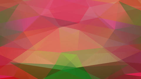 geometrical concept art constructed with triangles of various sizes and color tones giving it a 3d Animation